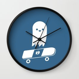 Skate Ghost Wall Clock