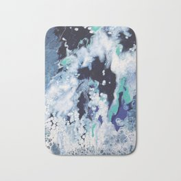 Carefree Blue Abstract Bath Mat