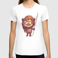 ewok T-shirts featuring Wicket the ewok by Nathalie Vessillier