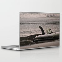 surfboard Laptop & iPad Skins featuring Surfboard 1 by Becky Dix