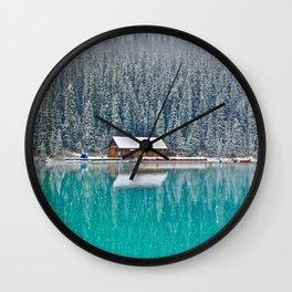 idyllic winter scene #society6 #decor #buyart Wall Clock