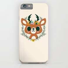 Deer with Flowers iPhone 6 Slim Case