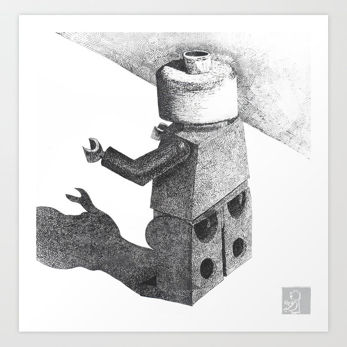 So Long Legoman Art Print