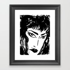 M with bangs Framed Art Print