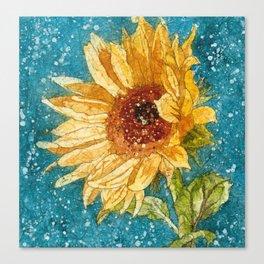 Sunflower Painting, Watercolor Sunflower, Sunflower Art,Sunflower Wall Art Canvas Print