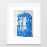 tardis Framed Art Prints featuring TARDIS by Redeemed Ink by - Kagan Masters