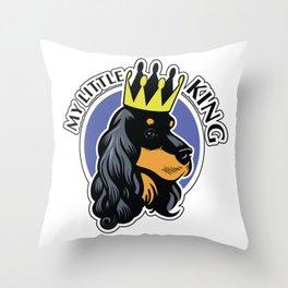 Black and tan cocker spaniel head Throw Pillow