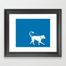 No Worries, I'll Just Walk Myself Framed Art Print
