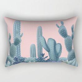 Milagritos Cacti on Rose Quartz Background Rectangular Pillow