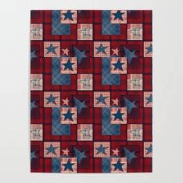 Creative patchwork. Star. The creative pattern. Poster