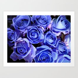 Blue Roses for You Art Print