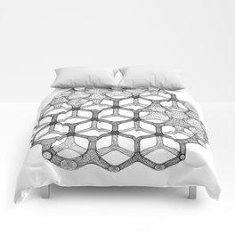 GEOMETRIC NATURE: COGNITIVE HEXAGON w/b Comforters