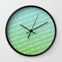 dentist Wall Clocks featuring Dental Jargon Art by Hold The Cheese