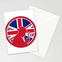 British Private Investigator Union Jack Flag Icon Stationery Cards
