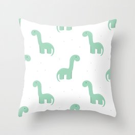 dino & dots Throw Pillow