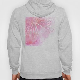 Abstract Pink Palm Tree Leaves Design Hoody