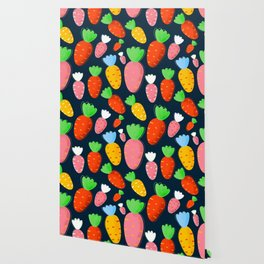 Carrots not only for bunnies - seamless pattern Wallpaper