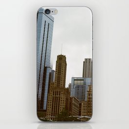 Looking onto Chicago from Millennium Park iPhone Skin