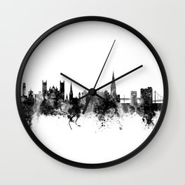 Exeter England Skyline Wall Clock