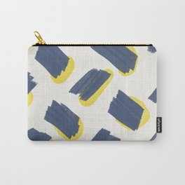 Navy + Yellow Pttrn Carry-All Pouch