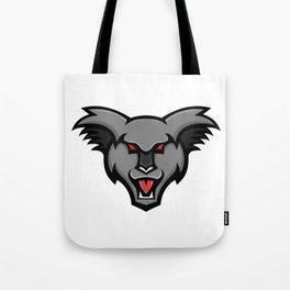Angry Koala Head Mascot Tote Bag