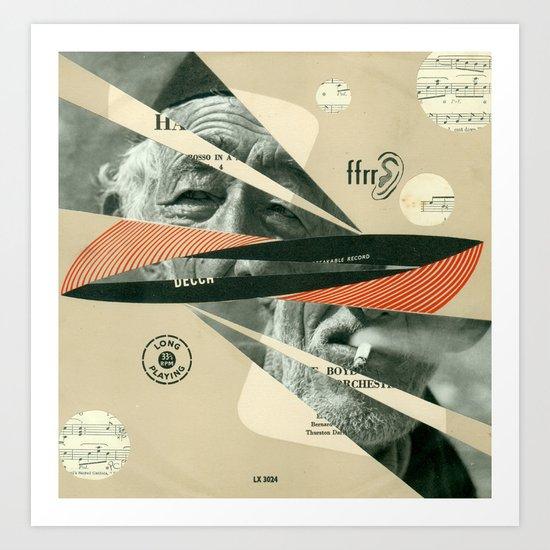Smoke Symphony Art Print