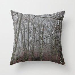 Dark forest. Throw Pillow