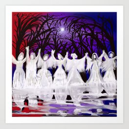 Midnight Prayers for the Living Sisters Art Print