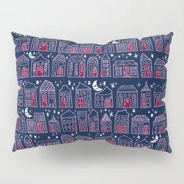 Starry Night in the City - Orchid & Navy Pillow Sham