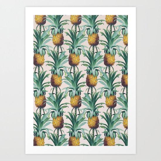 Pineapple Trellis Art Print