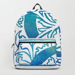 Letter G Antique Floral Letterpress Monogram Backpack