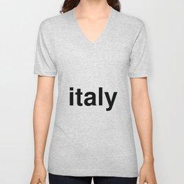 italy Unisex V-Neck