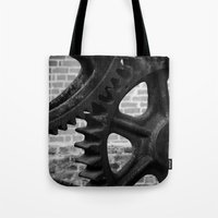 iron maiden Tote Bags featuring Iron by Chandon Photography