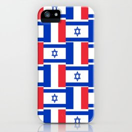 Mix of flag: france and israel iPhone Case