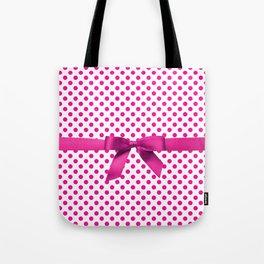 Pink Polkadot - Ribbon Tote Bag