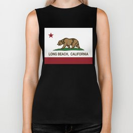 Long Beach California Republic Flag Biker Tank