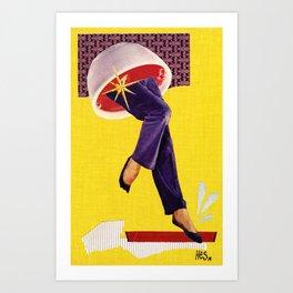 Composition on Yellow Art Print