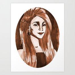Woman in Orange Art Print