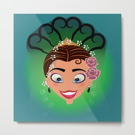 Tuti-Lady Flamenquerías/Character & Art Toy (Open eyes) Metal Print