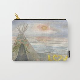 Love//Sunsets + Teepees Carry-All Pouch