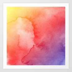 Watercolor Gradient Art Print