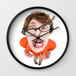 Stressed Out Fisheye Geek Wall Clock