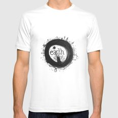 Earth Mens Fitted Tee White MEDIUM