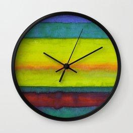 Summer Fields Stripes Wall Clock