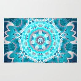 Blue Dream Mandala Rug