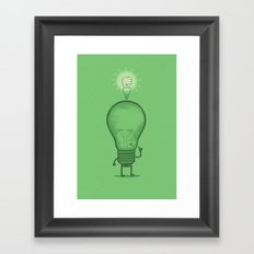 Think Efficiently! Framed Art Print