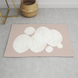 Pastel Abstract Art, Soft Color Rug
