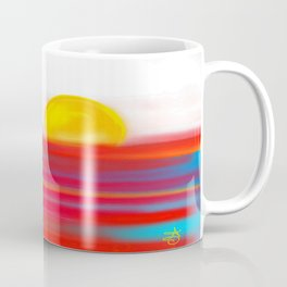 Sketchy Sun and Sea. Sunset and Sunrise Sketch Coffee Mug
