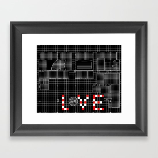 Architectural Print - Ceiling Plan - LOVE Framed Art Print