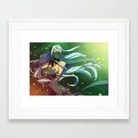 fire emblem Framed Art Prints featuring Fire Emblem IF Dancer by TiuanaRui